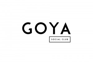 Goya Logo White on Black